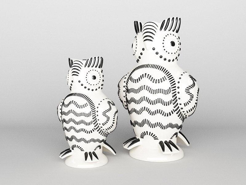 Woodpecker Vases 3d rendering