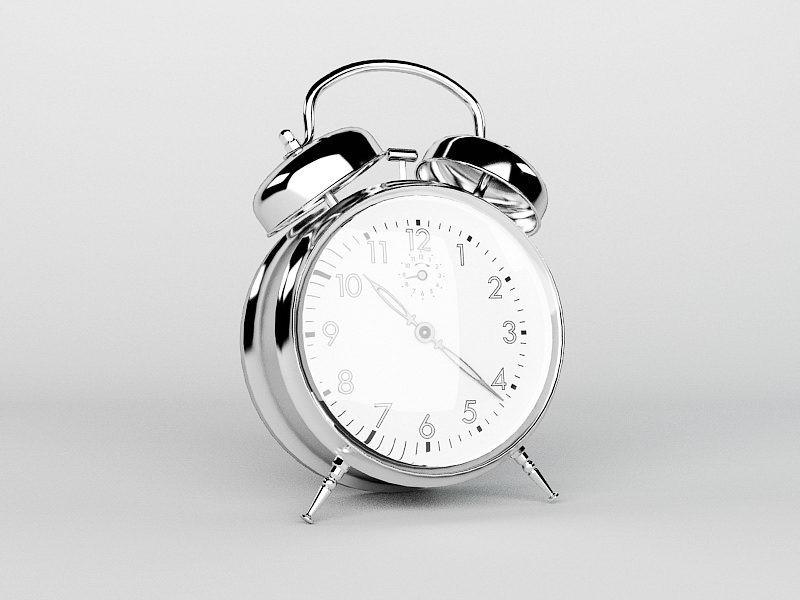 Twin Bell Alarm Clock 3d rendering
