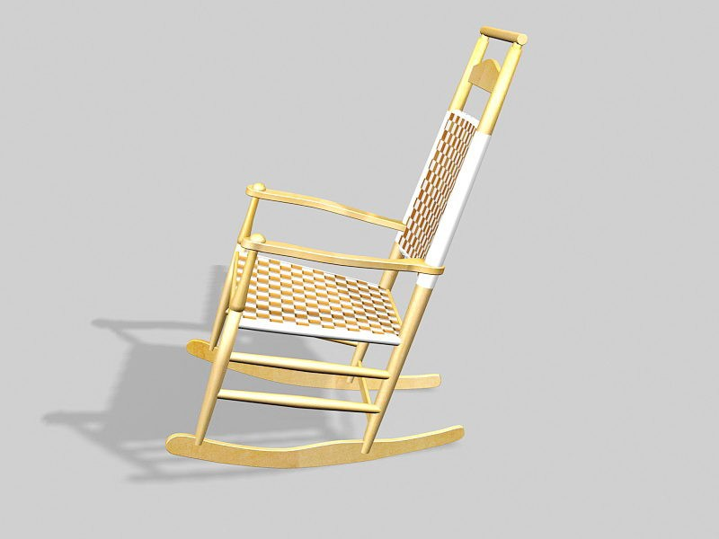 Traditional Rocking Chair 3d rendering