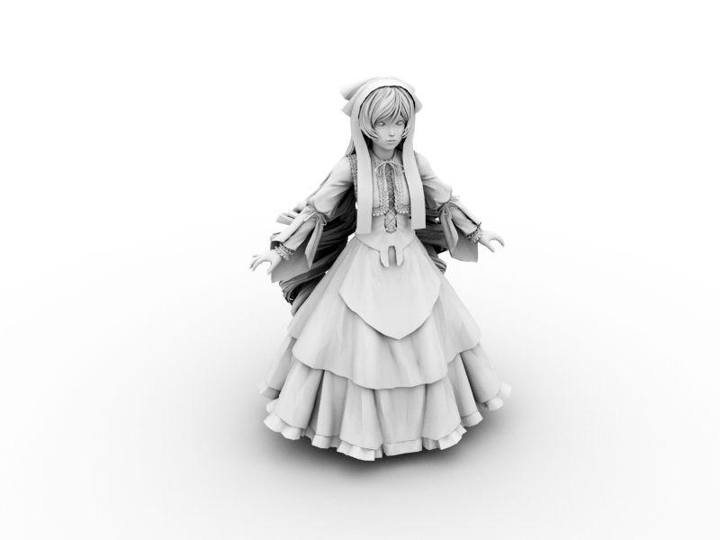 Lolita Girl 3d rendering