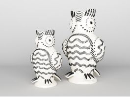 Woodpecker Vases 3d preview