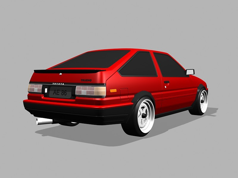 1983 Toyota AE86 3d rendering