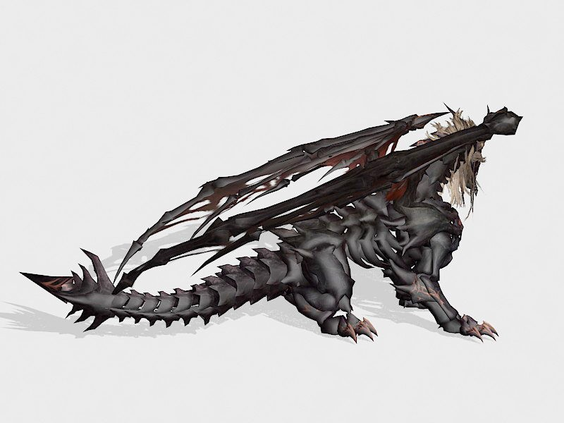 Vintage Dragon 3d rendering