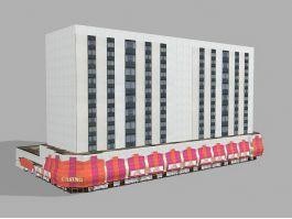 Casino Hotel Exterior 3d preview