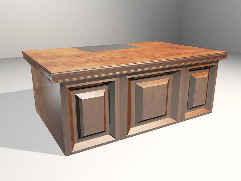Contemporary Writing Desk 3d rendering