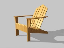 Outdoor Adirondack Chair 3d preview
