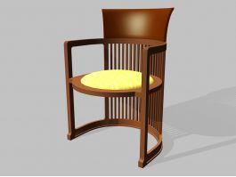 Vintage Tub Shaped Barrel Chair 3d preview