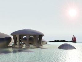 Sunset Beach Pavilion 3d model preview
