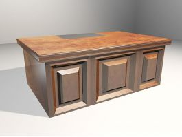 Contemporary Writing Desk 3d model preview