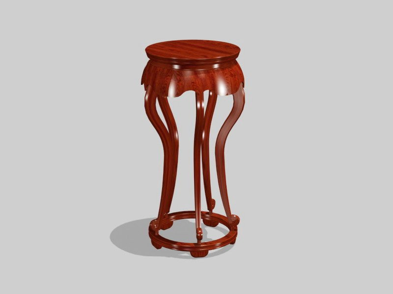 Plant Stand Table 3d rendering