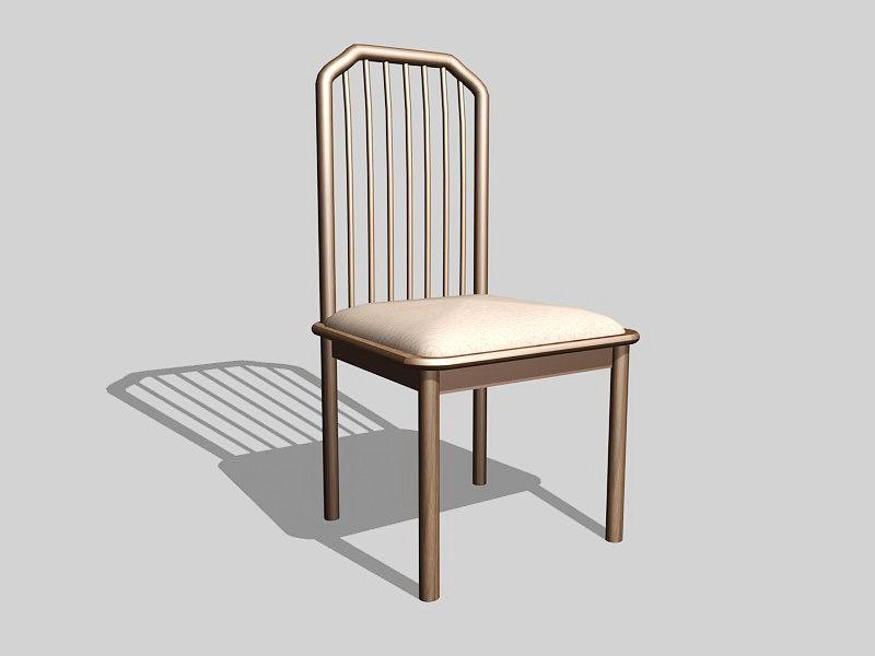 Wood Dining Room Chair 3d rendering