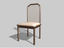 Wood Dining Room Chair 3d preview