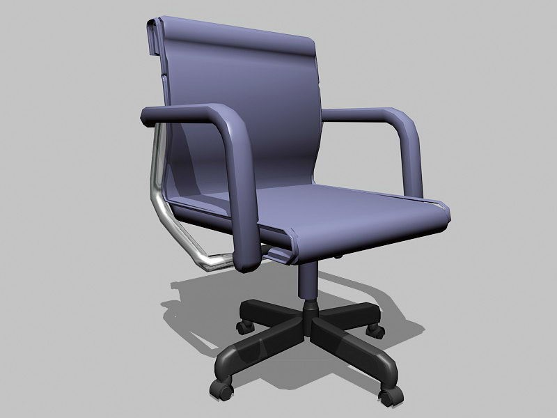 Swivel Desk Chair with Arms 3d rendering