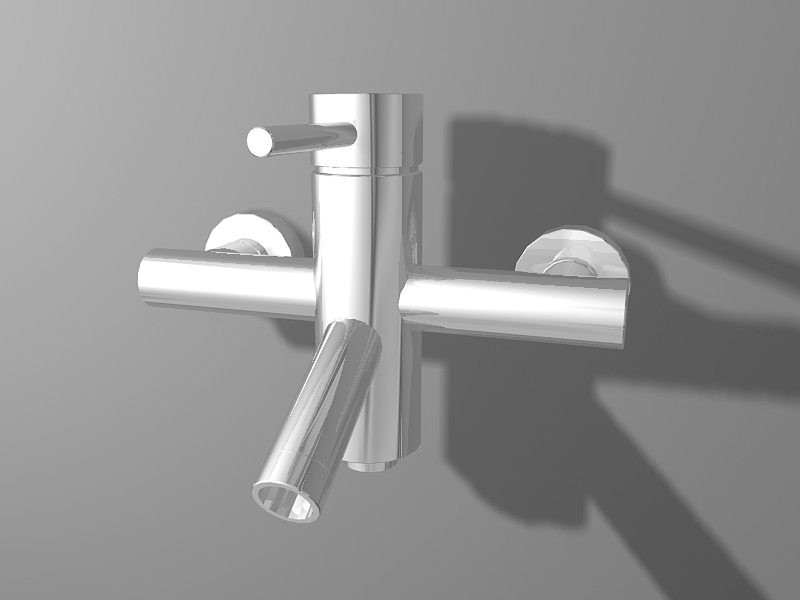 Wall Mounted Bathroom Faucet 3d rendering