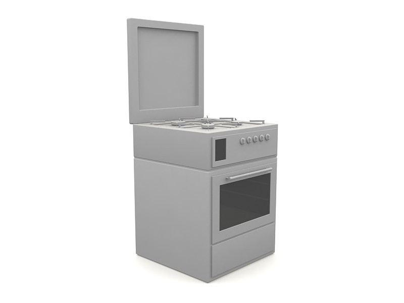 Kitchen Stove with Oven 3d rendering