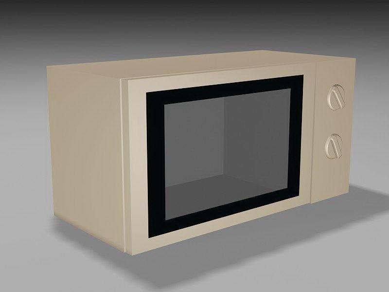 Countertop Microwave Oven 3d rendering