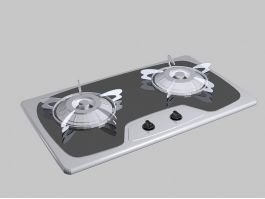 Kitchen Gas Stove Top 3d preview