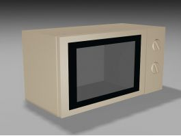 Countertop Microwave Oven 3d preview