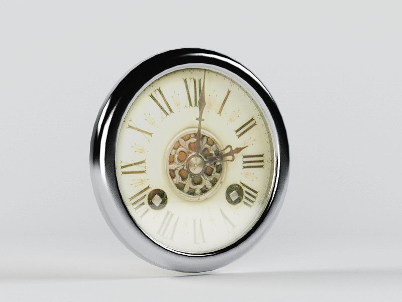 Decorative Wall Clock 3d rendering