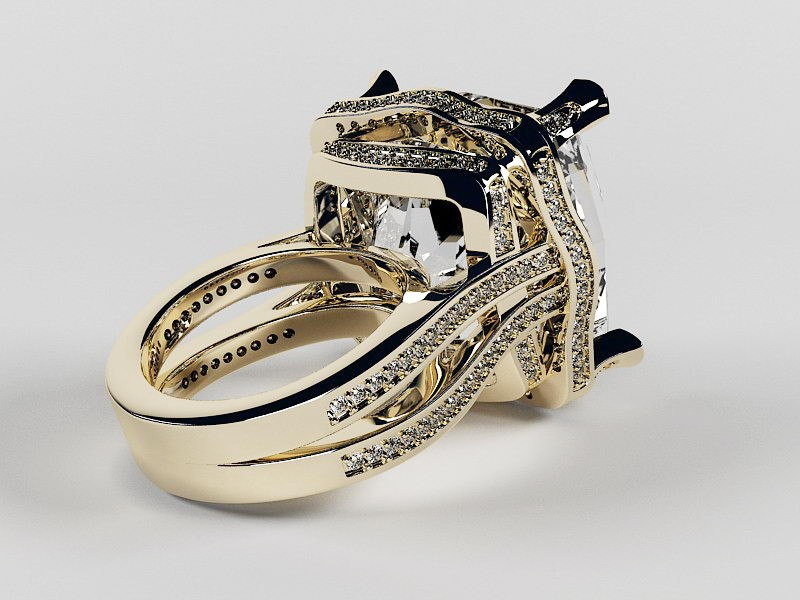 Pretty Diamond Ring 3d rendering