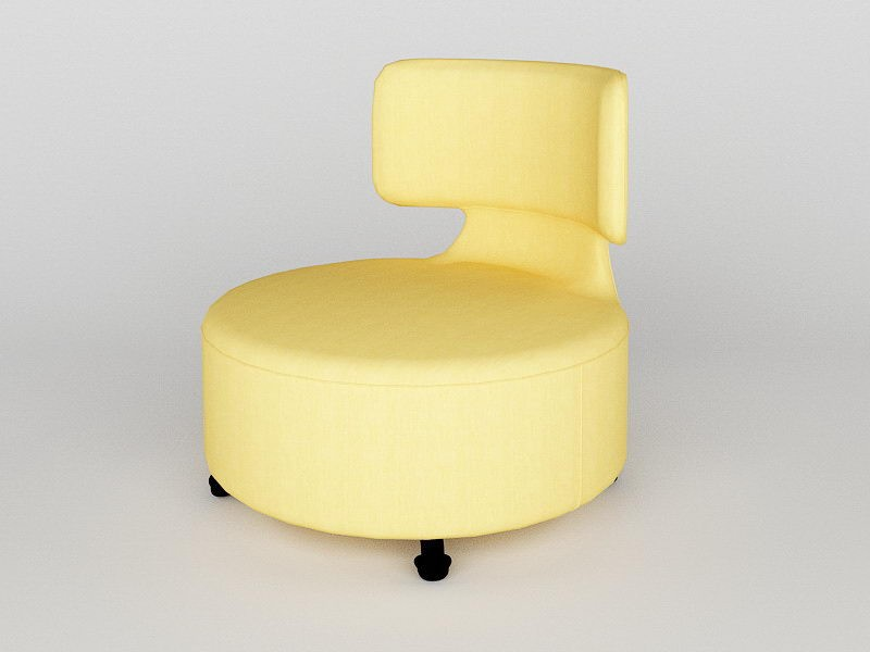 Fabric Swivel Chair 3d rendering