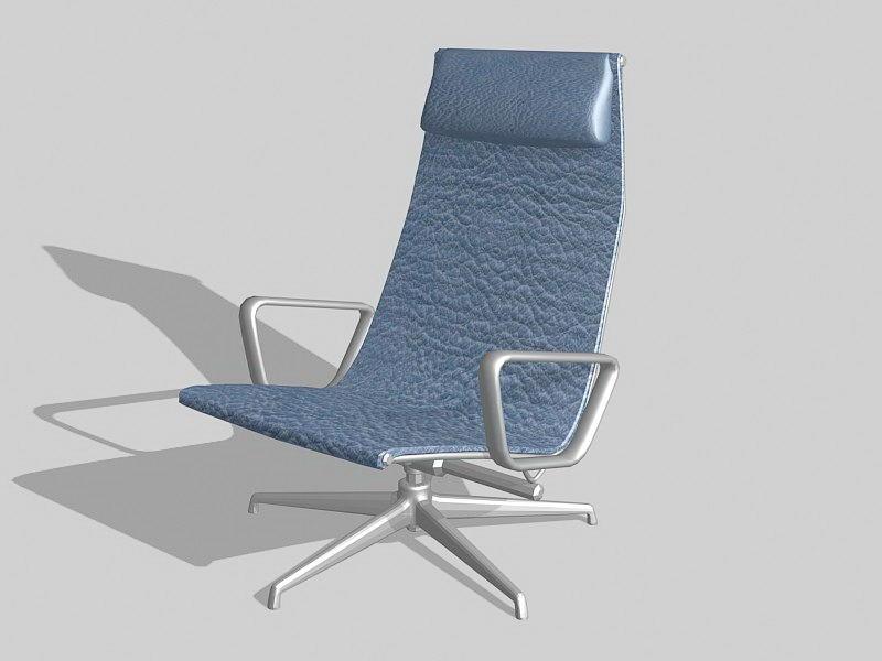 Living Room Recliner Chair 3d rendering
