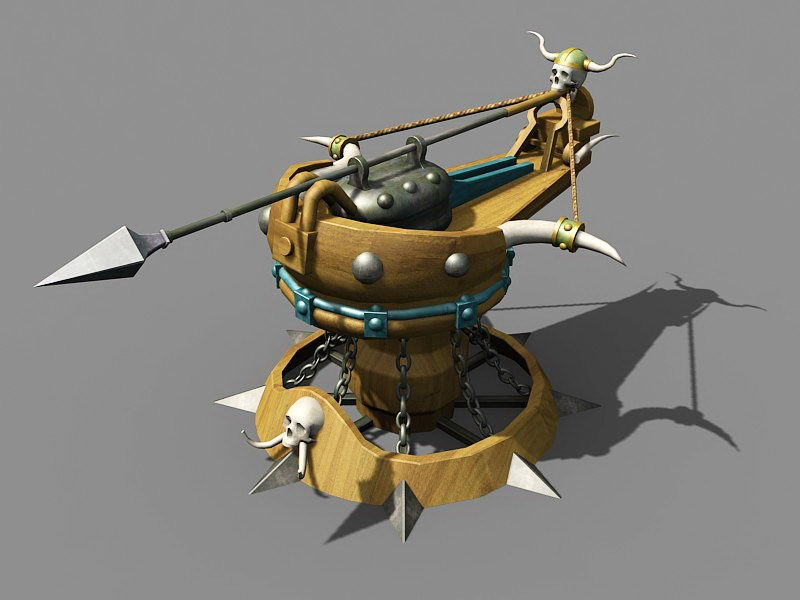 Ballista Crossbow Art 3d rendering