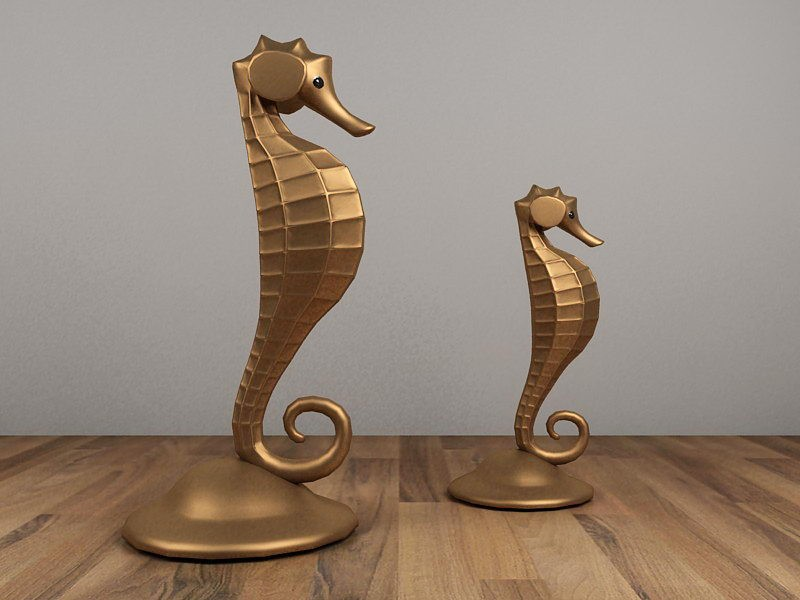 Seahorse Statue Decor 3d rendering