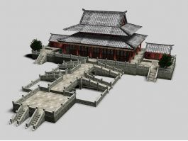 Ancient China Palace Architecture 3d preview