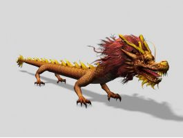 Ancient Chinese Dragon Creature 3d preview