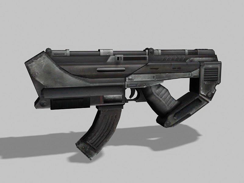 Sci-Fi Handgun 3d rendering