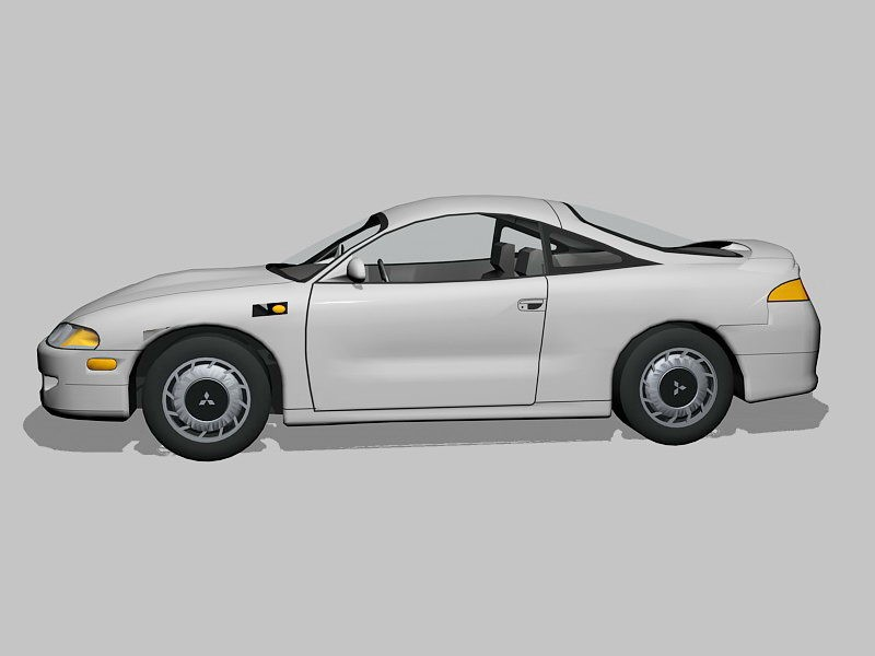 Mitsubishi Eclipse Coupe 3d rendering