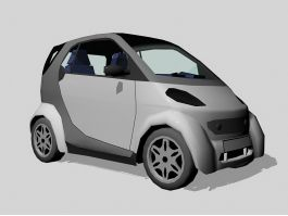 Grey Smart Car 3d preview