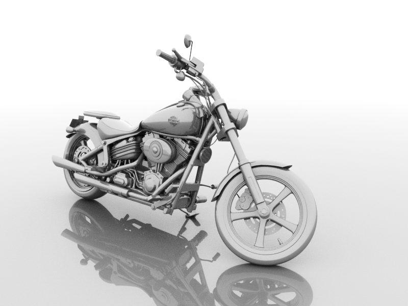 Sport Touring Motorcycle 3d rendering