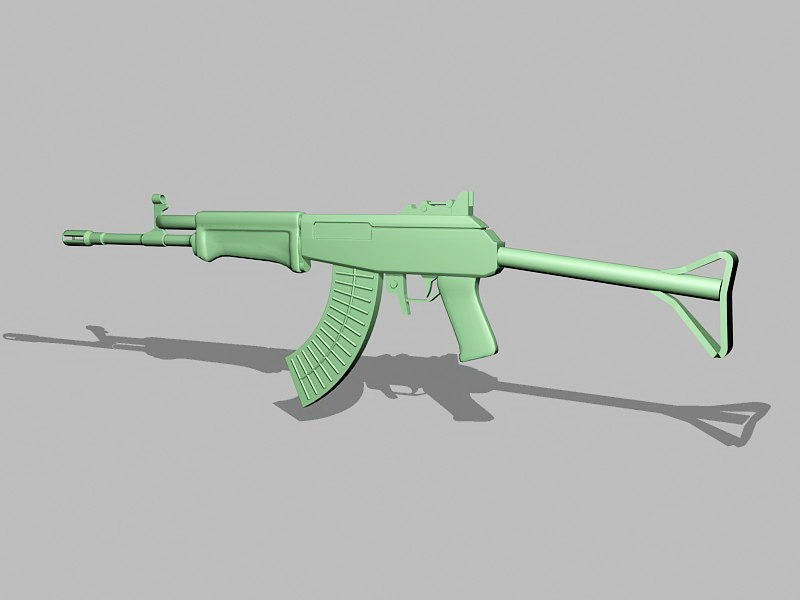 Kalashnikova AK-47 3d rendering