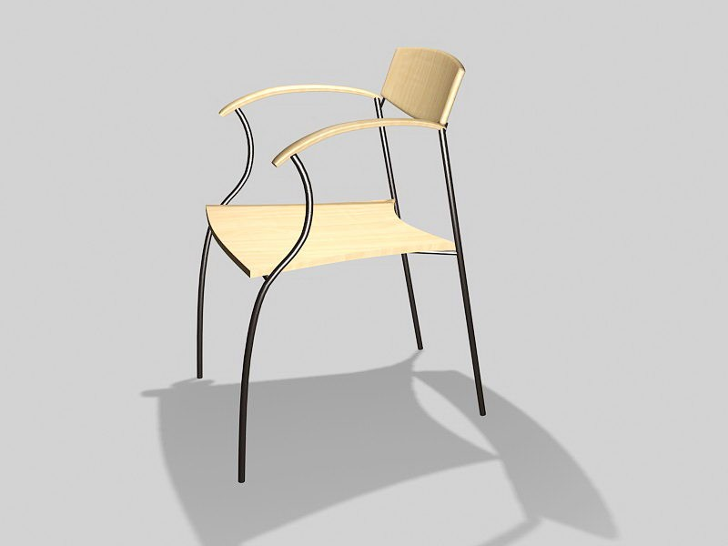 Simple Dining Chair 3d rendering
