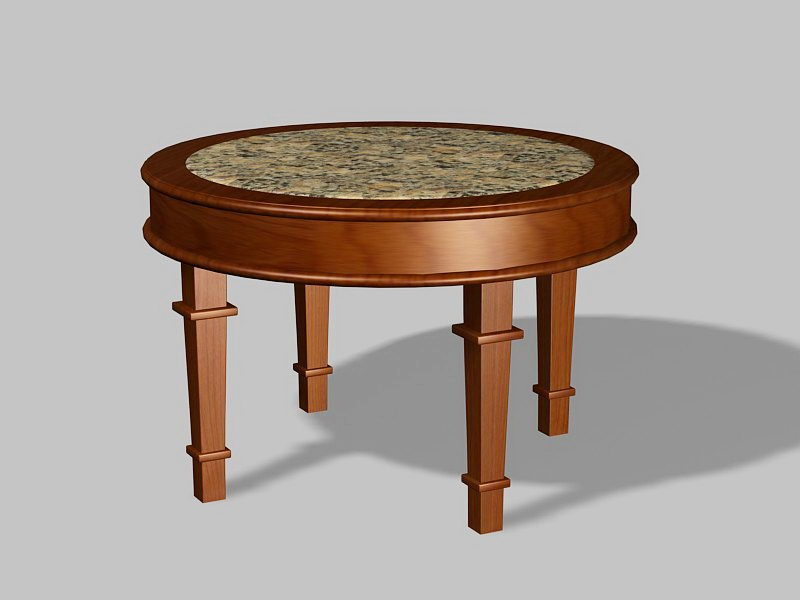 Round Dining Room Table 3d rendering