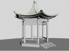 Chinese Hexagonal Pavilion 3d preview