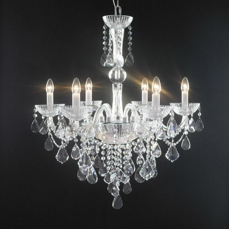 Crystal Chandeliers Lighting 3d rendering