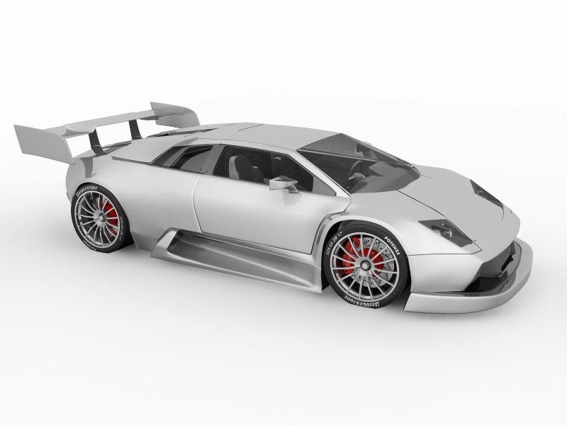 Lamborghini Murcielago Scream R-GT 3d rendering