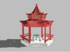 Chinese Pavilion Structural Design 3d preview