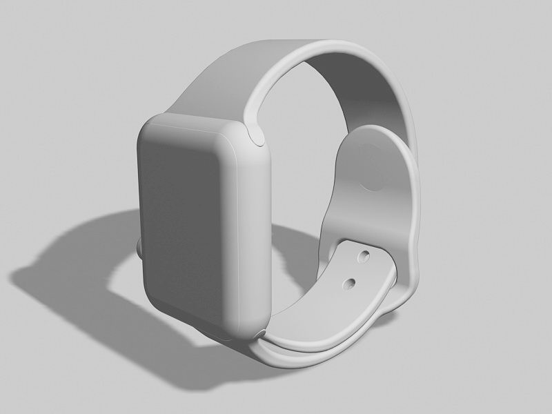 Apple Watch Smartwatch 3d rendering