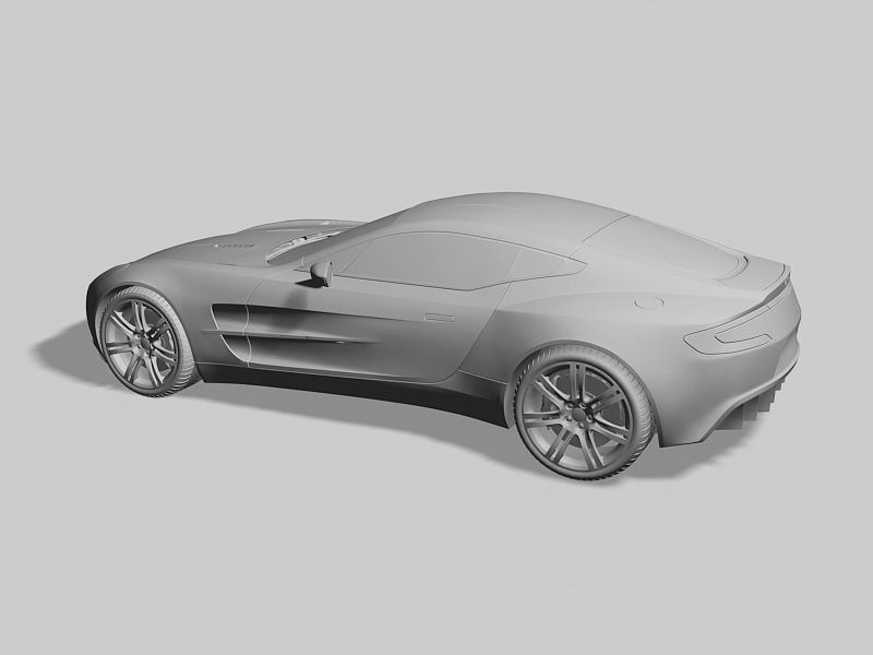 Aston Martin One-77 3d rendering