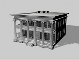 Colonial Mansion 3d preview
