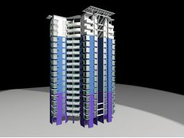 High Rise Apartment Blocks 3d preview