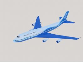 Boeing 747 Wide-body Airliner 3d model preview