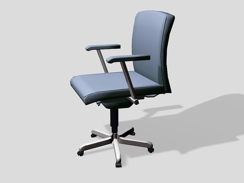Swivel Office Chair with Arms 3d rendering