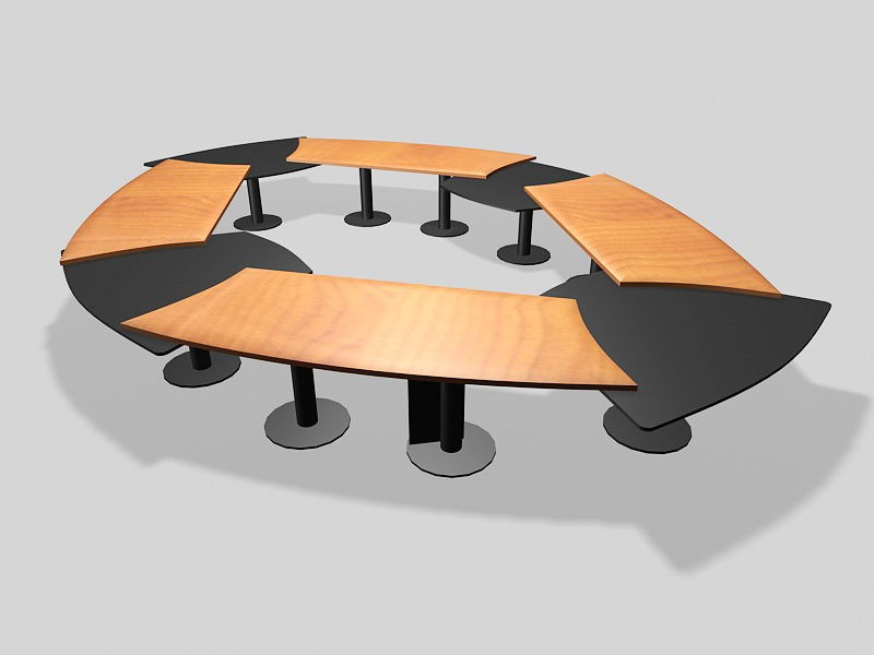 Conference Table Desk 3d rendering