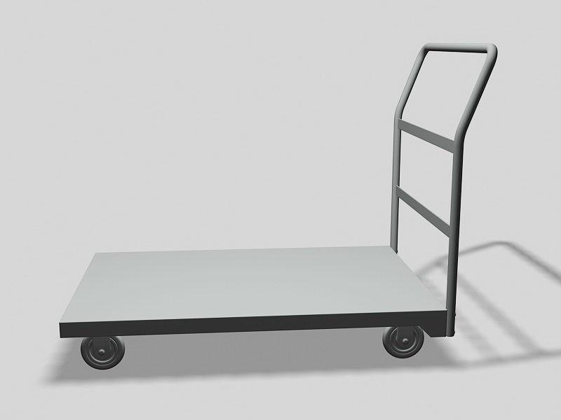 Flatbed Cart 3d rendering