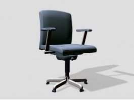 Swivel Office Chair with Arms 3d preview